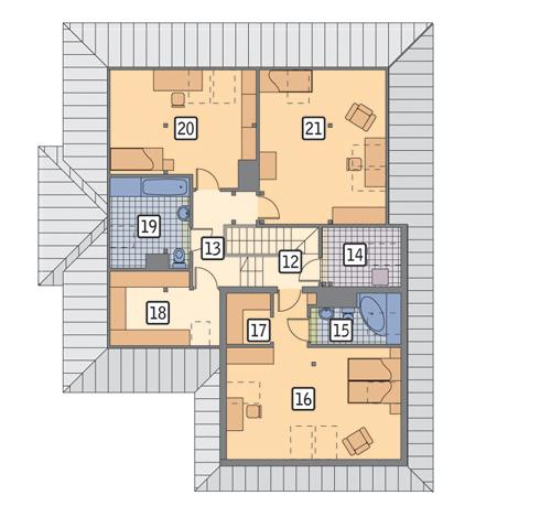 Rzut poddasza POW. 120,3 m²
