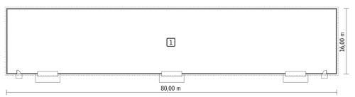 Rzut parteru POW. 1 231,3 m²