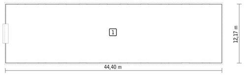 Rzut parteru POW. 531,3 m²