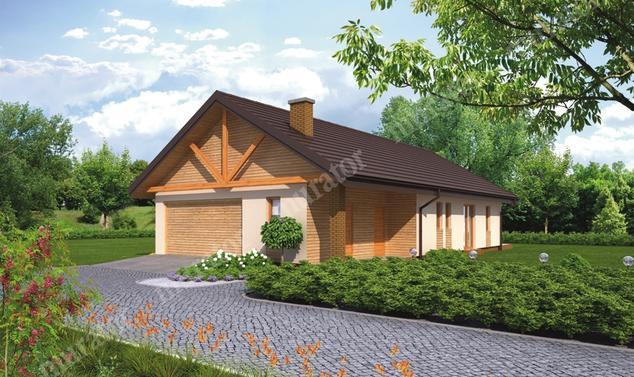 Projekt domu:  Murator C281   – Lubiany