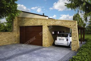 Garaż z wiatą garażową